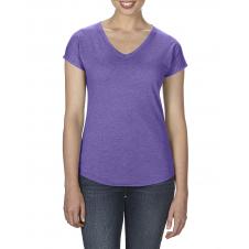 ANVIL - 6750VL - T-Shirt - Triblend Col en V pour femme - 50/25/25 - Mauve Cendre? - Large