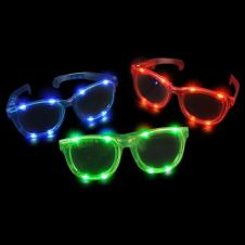 Light Up Jumbo Sunglasses-Batteries 3xag13 Incl.repl.