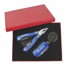 Coffret cadeau avec pince (10 fonctions) et porte-clés (5 fonctions) - Liquidation