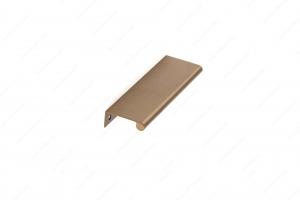 Poignée contemporaine pour rebord en métal - 9696 - 128 mm - Champagne bronze