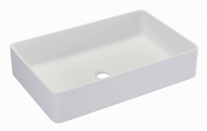 Riveo Vessel - Rectangle Alm07347 - 580 mm x 370 mm - White