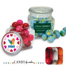 Reusable Glass Spice Jar Filled w/ Gumball