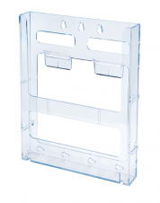 WallMount Brochure Holder up to 8-1/2 Width - Lit Loc™ - 1 pocket - Clear