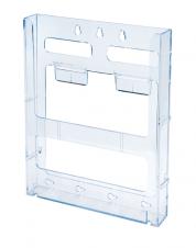 Support à brochure mural jusqu'à 8-1/2 large - Lit Loc™ - 1 emp. - Acrylique claire