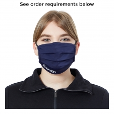 Polyester Unisex Pleated Eco Mask - 1 color imprint