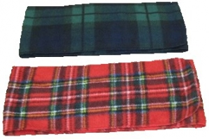 Premium Plaid Fleece Scarf (60x9.5)