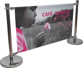Café Barrier - Indoor/Outdoor Banner Stand System