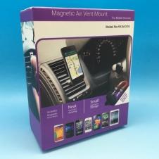 Support à téléphone - Support magnétique dans le ventilateur - Noir