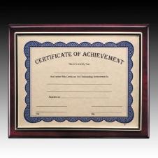 Rosewood Oakleigh Certificate Plaque