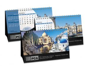 Desk Calendars - WORLD SCENIC - DOUBLE VIEW®