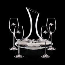 Madagascar Carafe & 4 Wine
