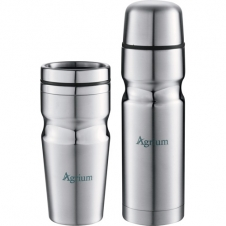 18 Oz. Deco Band Insulated Bottle & Tumbler Gift Set