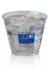 Clear Plastic Cups - rigid wall - 9oz old fashioned