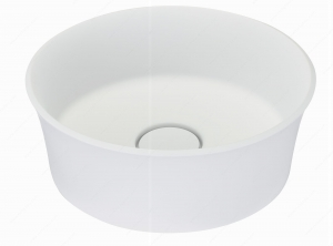 Riveo Vessel - Round Alm07341 - 379 mm x 379 mm - White