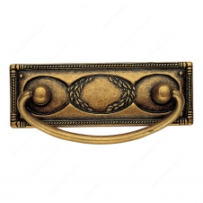 Traditional Brass Pull - 6323 - 33 mm / 97 mm - Oxidized Brass