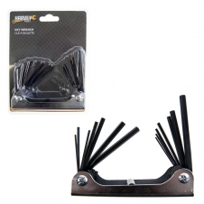 HARVEY TOOLS - 14 PCS FOLDABLE HEX KEY METRIC AND SAE