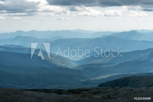 View from Mount Washington in New Hampshire
