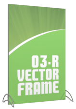 Vector Frames - 70 x 47w Rectangle frame (03) - With OCL case