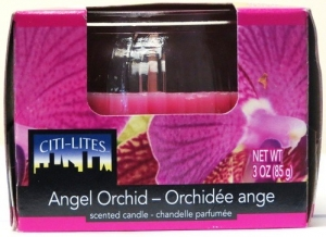 CITI-LITES 3 OUNCE BOXED GLOBE JAR ANGEL ORCHID