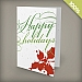 A6 - 100 percent Plantable Personalized Holiday Cards - Holly Happy Holidays