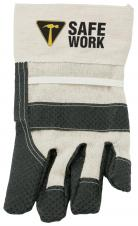 Work gloves in natural cotton with black rubberized non-slip dots #RushExpress72hrs