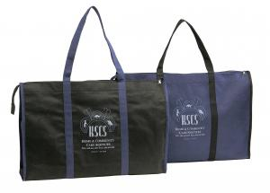 Non-woven tote bag with zipper
