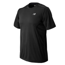 NEW BALANCE - MT53953 - T-Shirt - T-SHIRT TECHNIQUE 5 KM - 100% Polyester - Noir - X-Large