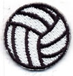 Embroidered Stock Appliques - Volleyball