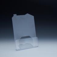 Support à brochure jusqu'à 8-1/2 large - modèle maison - 1 emp. - 8-1/2 L x 1 P - Acrylique claire