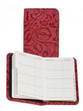 Tooled Calfskin Leather Personal Telephone/ Address Book
