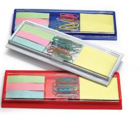 Combination Ruler w/ Sticky Notes/ Flags/ Paper Clip Tray