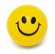 4 Colour Process Smiley Face Squeeze Ball (2 1/2 Diam.)
