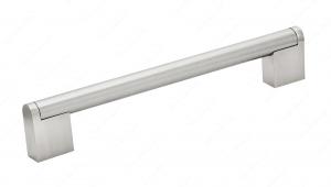 Poignée contemporaine en métal - 7191 - 160 mm - Nickel brossé