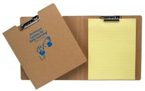 Recycled Cardboard Clipboards - 9 x 13 - 1 Color Printed - 4/0