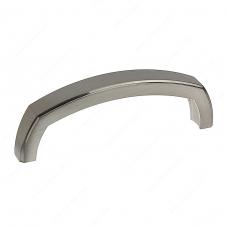 Poignée transitionnelle en métal - 785 - 96 mm - Nickel brossé