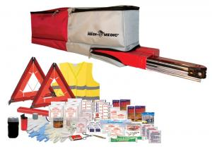 Auto Safety Kit w/Max Distance Roadside Triangles
