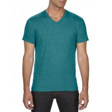 ANVIL - 6752 - T-Shirt - T-Shirt à col en V Triblend - 50/25/25 - Galapagos Cendré - 2X-Large
