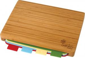 5 Pc Bamboo Cutting Board Set