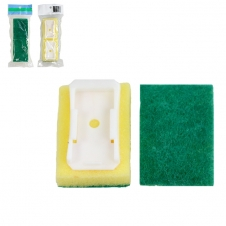 SOAP BRUSH REFILL, HEAVY DUTY, GREEN - PACK OF 2