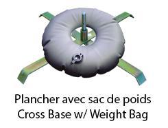 Base plancher + Sac de poids pour drapeau T-FLAG, F-FLAG, R-FLAG