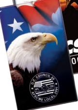 Stock Full Color Patriotic Cover w/ Address Book Insert