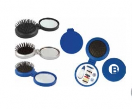 Travel Hairbrush/ Sewing Kit