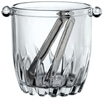 946 Ml Glass Polar Ice Bucket w/ Tongs