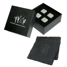 Coasters And Ice Cubes In Gift Box (6 Piece Set)