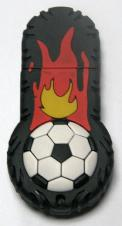 Custom PVC / Silicone Burning Rubber Soccer Ball Shape USB Flash Drive