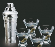 Rockport 5 Piece Set with Shaker & 4 Brisbane Glasses