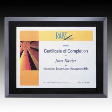 Ebony Avonlea Certificate Plaque