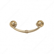 Traditional Metal Pull - 3069 - 84 mm / 33 mm  - Spotted Bronze