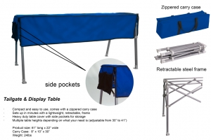 Tailgate & Display Table Tailgate & Display Table Tailgate & Display Table Tailgate & Display Tab