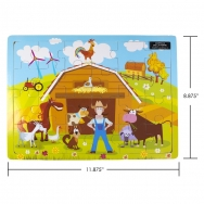 IPLAY - casse-tête en bois - Farm - 8.875 x 11.875 (22.5 x 30 cm)